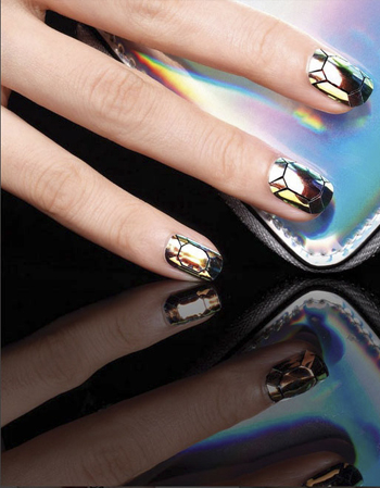 Nail art: la glass manicure!